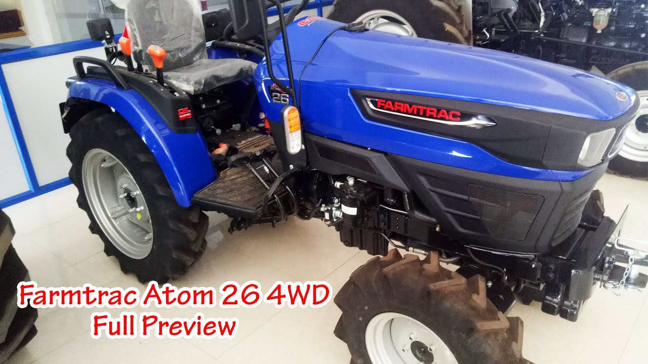 Farmtrac Atom 26 4WD Full Preview + Cost + Specifications | Tractor Videos | SWAMI Tractors