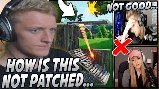 Tfue Was SHOCKED After Seeing The BUILDING Glitch That's Taking OVER Fortnite.. Sym & Brooke DONE?!