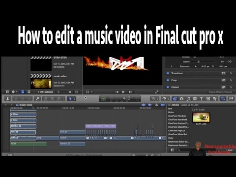How to edit a music video in Final cut pro x