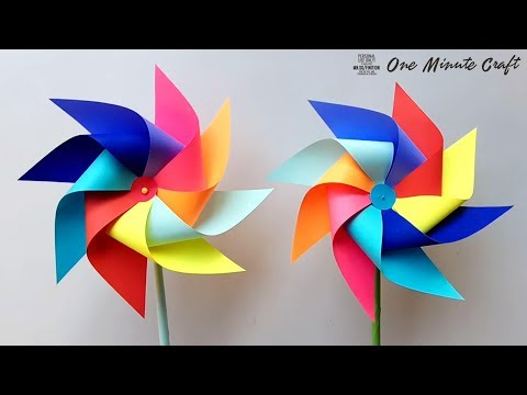 How to make a Paper Windmill for Kids - Windmill making Project (Pinwheel)