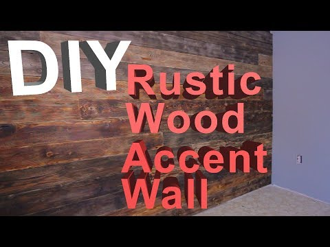 DIY Rustic Wood Accent Wall | Bedroom Renovation