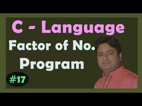 Factor of a number in C programming | Learn C programming by Manoj Sir.