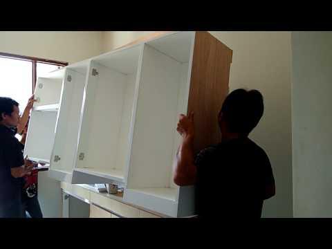 Cara memasang kitchen set dengan mudah