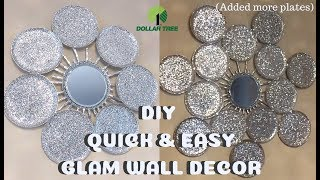 New! Diy Quick And Easy Glam Wall Decor, Diy Home Decor 2019