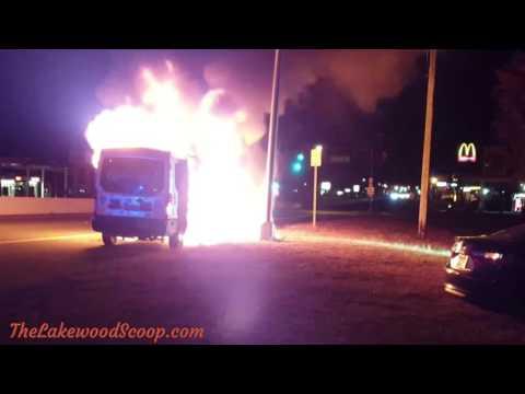 Chai Lifeline Lakewood van bursts into flames