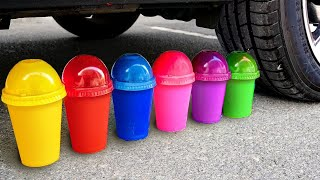 Crushing Crunchy \u0026 Soft Things by Car! Experiment Car vs Cola, Fanta Slime Candy Toys