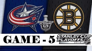 Columbus Blue Jackets Vs Boston Bruins  Second Round  Game 5  Stanley Cup 2019  Обзор матча