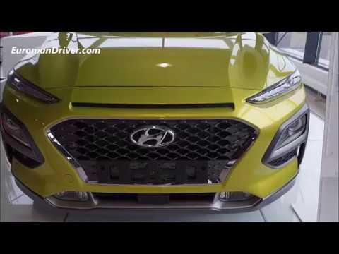 Hyundai Kona SUV 2020 First Walk Around Detailed Review vs Volkswagen T-Roc