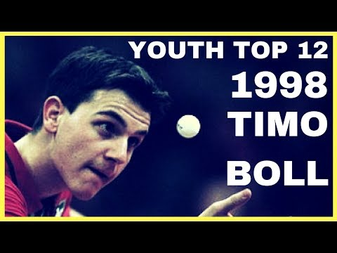 Young Timo BOLL - DELOBBE Damien 1998 YOUTH TOP 12 Table Tennis