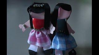 Linda fivela com bonequinha de fitas Passo a Passo – Flor do Jardim