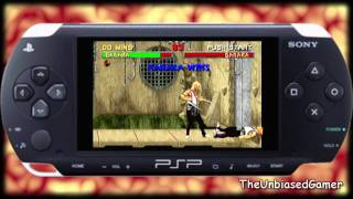 Midway arcade treasures- PSP- Mortal Kombat II- Gameplay