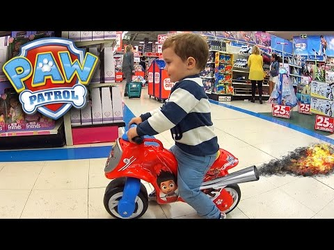 PAW PATROL MOTO DA PATRULHA CANINA NA LOJA DE BRINQUEDOS TOYS R US - Toy Motorcycle Paw Patrol Kids