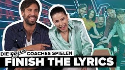 "Lena & Max Giesinger erkennen eigene Songs nicht😂 ""The Voice Kids""-Coaches spielen Finish The Lyrics"