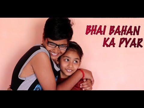 Bhai bahan ka pyar    anshika - ekansh     cute relationship of brother-sister