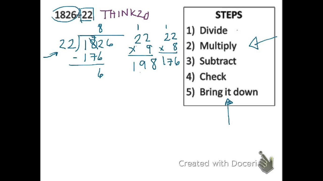 Long Division With Multi Digit Divisors