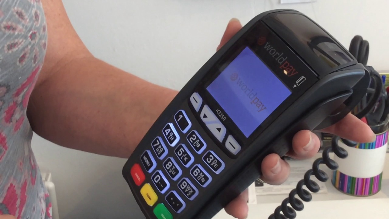 How to insert paper into credit card machine