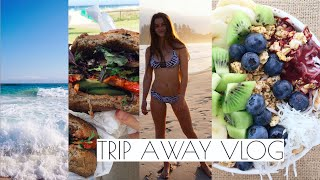 TRIP AWAY VLOG | VEGAN FOOD & THE BEACH