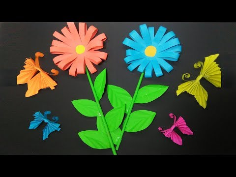 DIY Paper Crafts Work For Learning Kids By Kids Fun And Crafts Tv Butterfly Paper Art Easy Learning