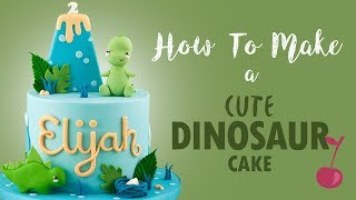 Cute Dinosaur Cake Tutorial | How To | Cherry School