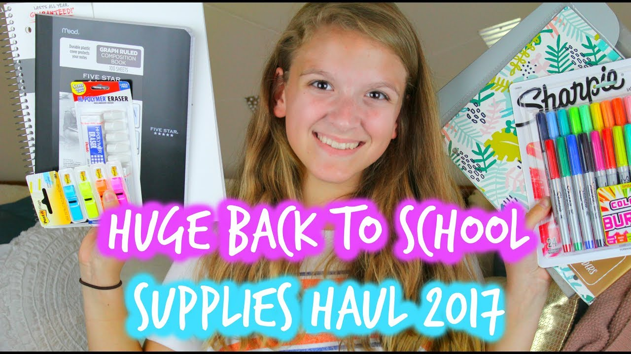 27c2ce5cb5a HUGE BACK TO SCHOOL SUPPLIES HAUL 2017 ll LifeAsJade - YouTube
