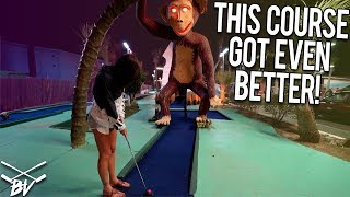 ONE OF THE BEST MINI GOLF COURSES IN THE WORLD GOT EVEN BETTER! | Brooks Holt