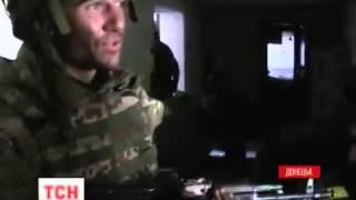 Уникальное видео боя  киборгов  с боевиками за Донецкий аэропорт  Война