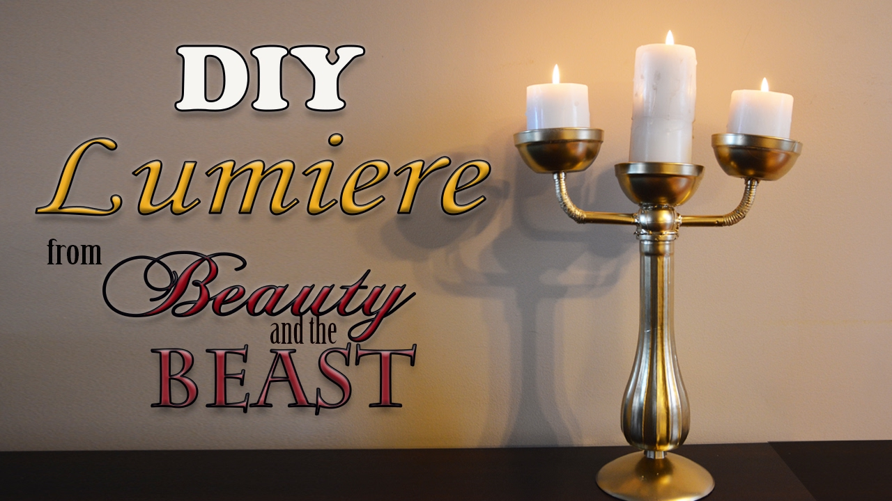 diy life like lumiere from beauty and the beast youtube. Black Bedroom Furniture Sets. Home Design Ideas