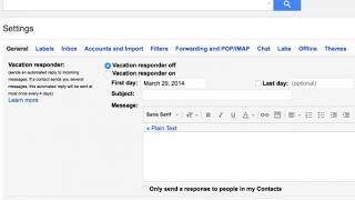 كيف تفعل الرد التلقائى على رسائل الجيميل gmail اثناء غيابك ؟