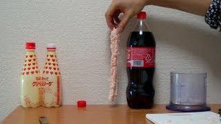 メントスで槍を作ってコーラにブッさす coca cola mentos thumbnail