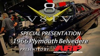 Rad Rides by Troy 1966 Plymouth Belvedere Stops Traffic at SEMA 2015 Video V8TV