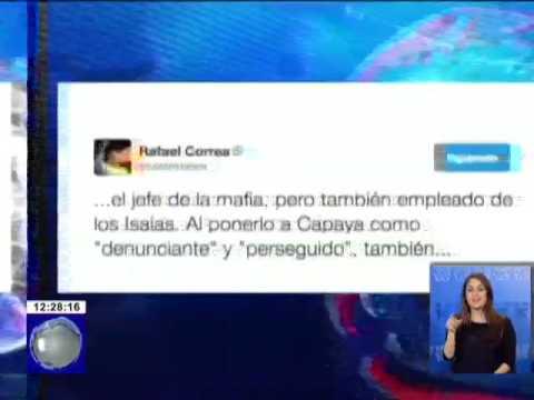Presidente Correa se refirió en su cuenta Twitter sobre los CapayaLeaks