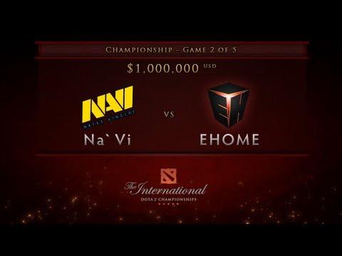 EHOME vs NaVi - Game 2, Championship Finals - Dota 2 International -  English Commentary