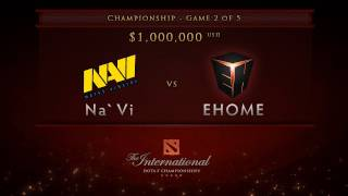 EHOME vs NaVi - Game 2, Championship Finals - Dota 2 International -  English Commentary(EHOME vs NaVi The International Loser Bracket Finals Game 2 between EHOME and NaVi. Go to Dota2.com for full Gamescom schedule and results., 2011-08-21T18:10:44.000Z)