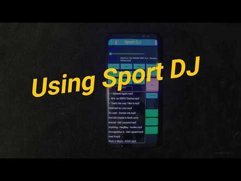 Using Sport DJ to play music at sports events