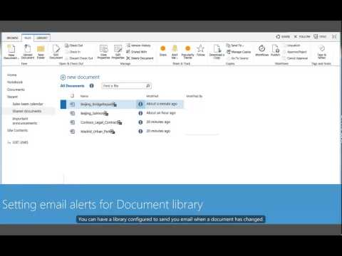 Document Library Version History and Email Alerts - SharePoint 2013
