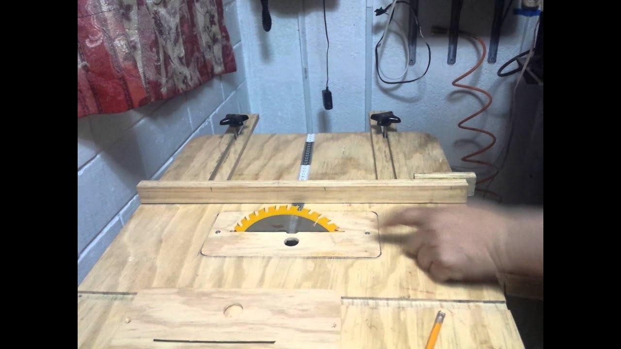 sierra de mesa casera youtube