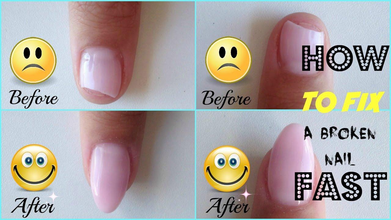 How to Repair a Broken Gel Nail FAST - YouTube