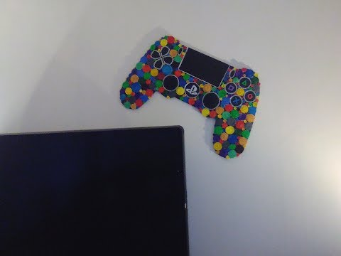 DIY Playstation 4 Controller aus Papierröllchen