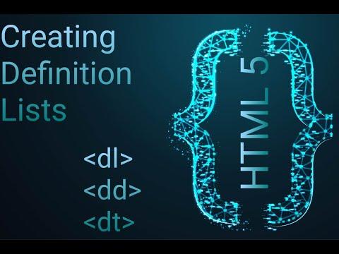 HTML5 Dl Tag, Html Dt Tag And Html Dd Tag #SASEDUCATION  In Hindi