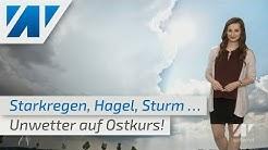 Unwetter schieben sich in den Osten - morgen kehrt das sonnige Wetter zurück (Mod.: Julia Krause)