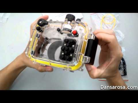 130ft underwater camera housing for Canon G15 unboxing