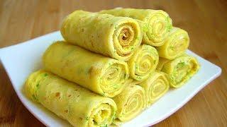 300g麵粉,5個雞蛋,攪一攪,快速做早餐,柔軟營養省時【娟子美食】