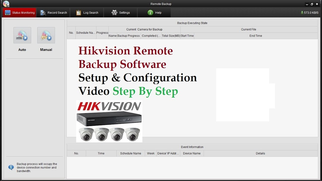 Hikvision Automatic Remote Backup Software Installation,Configuration Step  by Step