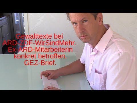 ARD/ZDF. Gewaltdrohungen von WirSindMehr gegen Andersdenkende massiv. GEZ-Brief wegen Chemnitz!