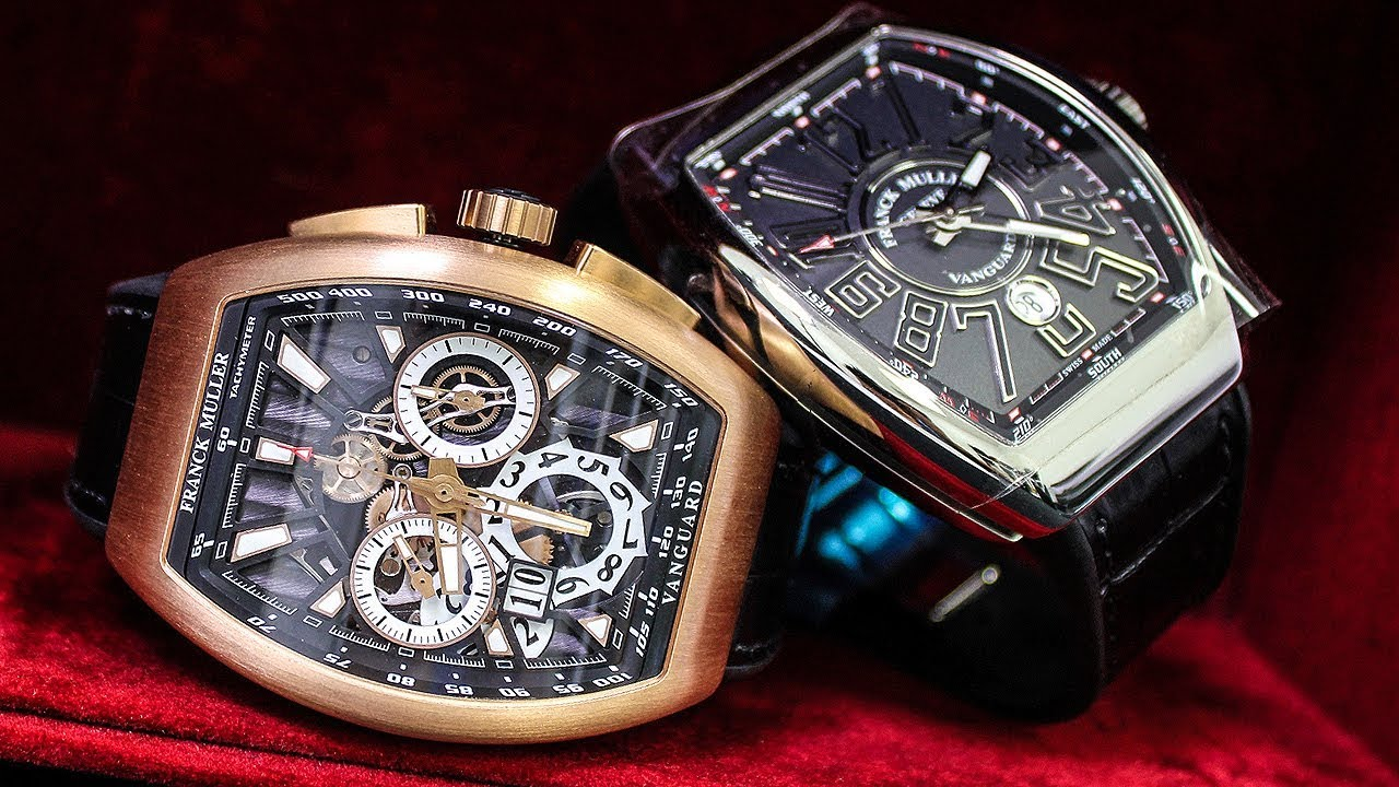 Franck muller watches it 39 s not frank miller vanguard conquistador crazy hours youtube for Franck muller watches