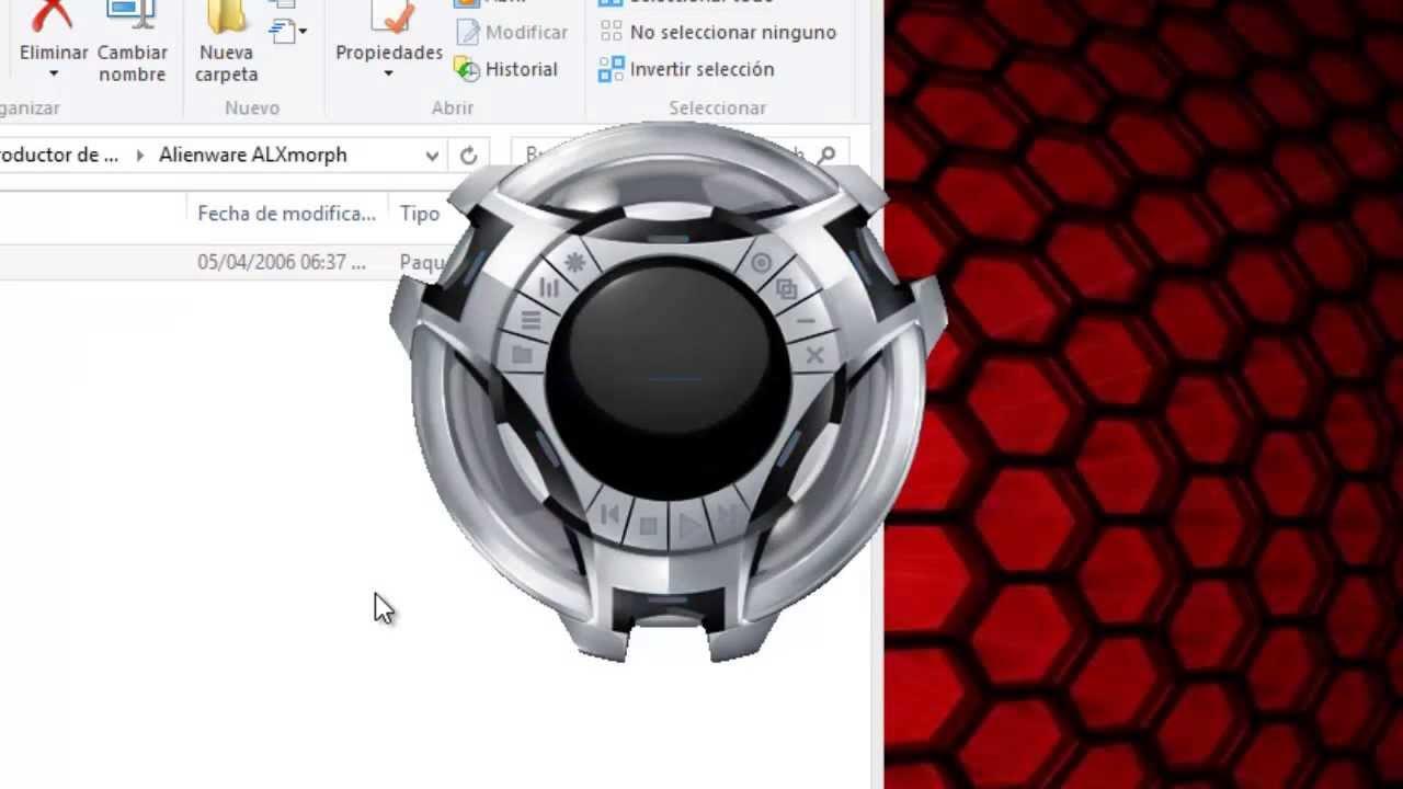 mascaras de alienware para reproductor de windows media