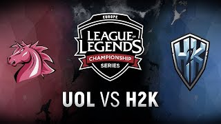 UOL vs. H2K - Week 7 Day 1 | EU LCS Spring Split |  Unicorns of Love vs. H2k-Gaming (2018)