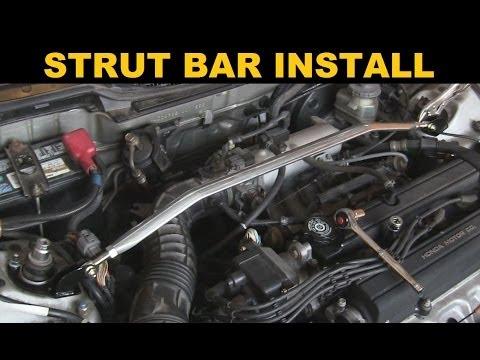 Strut Bar Install - Acura Integra