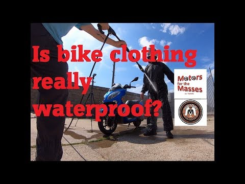 Waterproof Motorcycle clothing EXTREME TEST