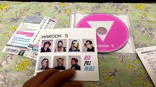 Maroon 5 Red Pill Blues Japan Deluxe Edition Unboxing